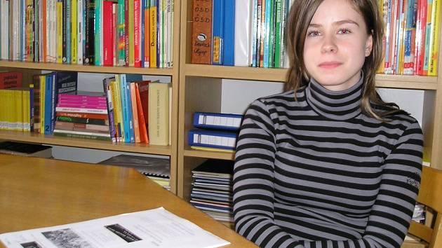 Pavla Rašnerová, studentka šternberského gymnázia.