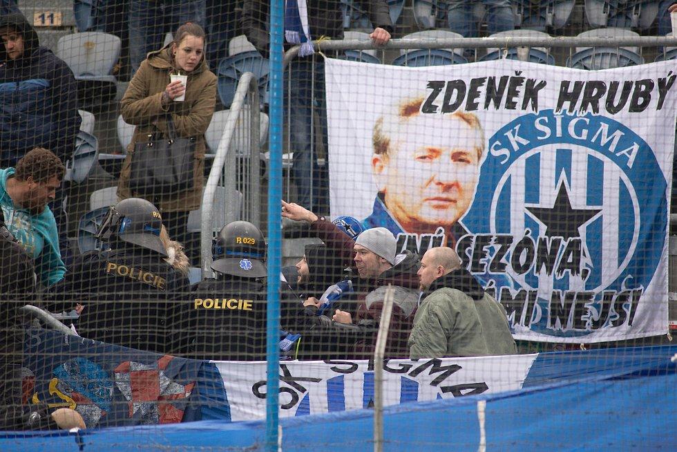 Fanoušci SK Sigma Olomouc v Opavě