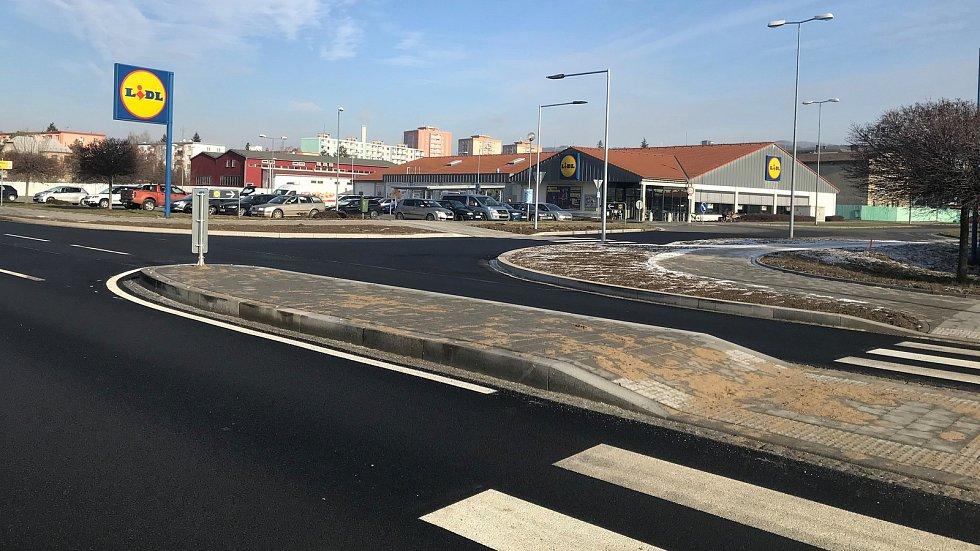 Leden 2020. První etapa rekonstrukce Věžní ulice ve Šternberku je hotová.