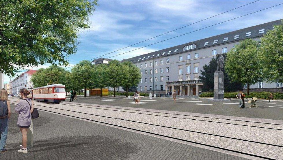 Návrh úprav Žižkova náměstí v Olomouci od ateliéru Zahrada Olomouc