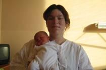 Tereza Linhartová, Kostelec na Hané, narozena 27. listopadu v Olomouci, míra 47 cm, váha 3620 g