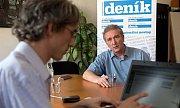 Jaromír Bystroň při on-line rozhovoru pro Olomoucký deník