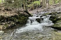 U Paseckého vodopádu, květen 2021