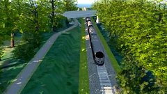 Vizualizace podjezdu cyklostezky mostem u Štarnova