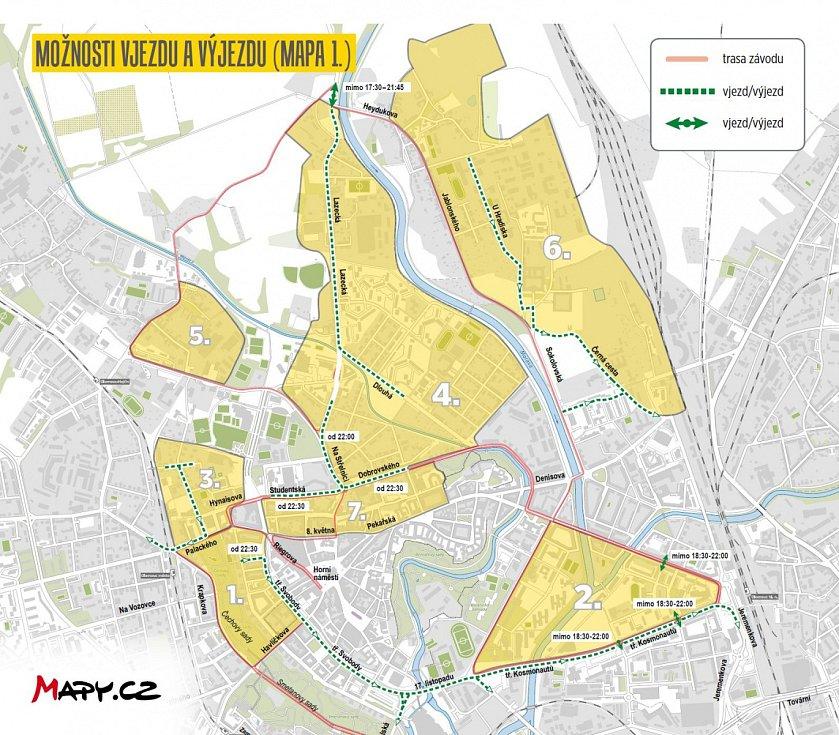 Olomoucký půlmaraton 2017 - uzavírky, vjezdy a výjezdy