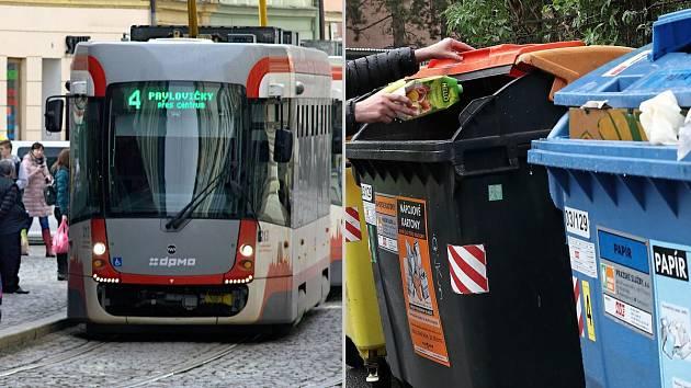 V Olomouci v roce 2020 podraží jízdenka v MHD i odvoz odpadu