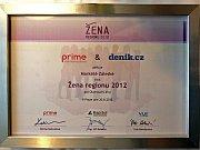 Ocenění - Žena regionu 2012