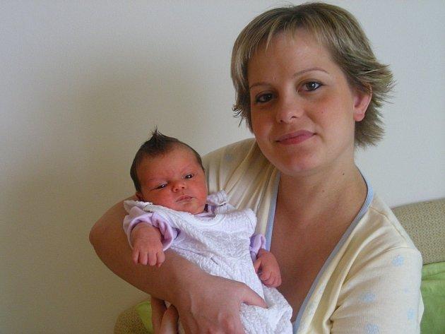 Bára Skácelová, narozená 23.10. 2007 ve Šternberku,váha: 3100 g, míra: 49 cm, Litovel