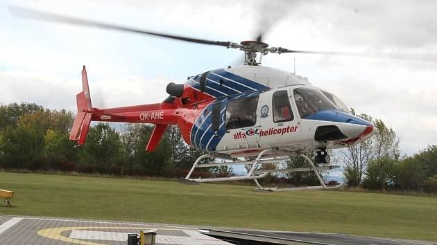Stávající vrtulník letecké záchranné služby Olomouckého kraje (ilustrační foto).