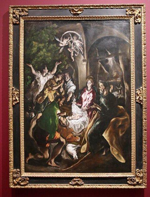El Greco – Klanění pastýřů (asi 1605–10), zapůjčeno do Olomouce zMetropolitního muzea vNew Yorku