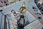 Oprava Mariánského sloupu na olomouckém Dolním náměstí