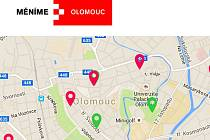 Web Měníme Olomouc informuje o opravách a stavbách v režii města