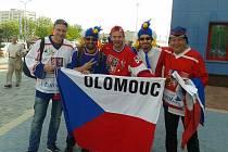 Olomoučtí fanoušci na hokejovém šampionátu v Minsku