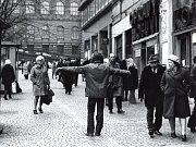 Jiří Kovanda, bez názvu (Pokus o seznámení), 1976