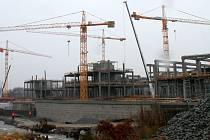 Stavba Galerie Šantovka na konci roku 2012