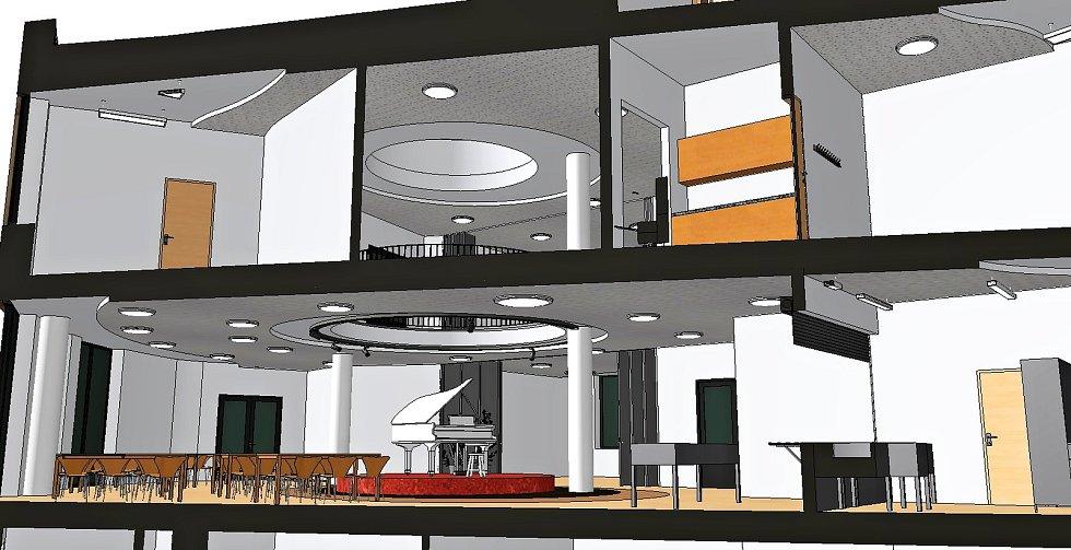 Vizualizace interiérů budoucí Waldorfské základní školy v Olomouci