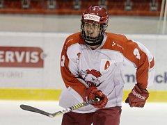 Reprezentační obránce výběru do 17 let, olomoucký hokejista Tomáš Dajčar