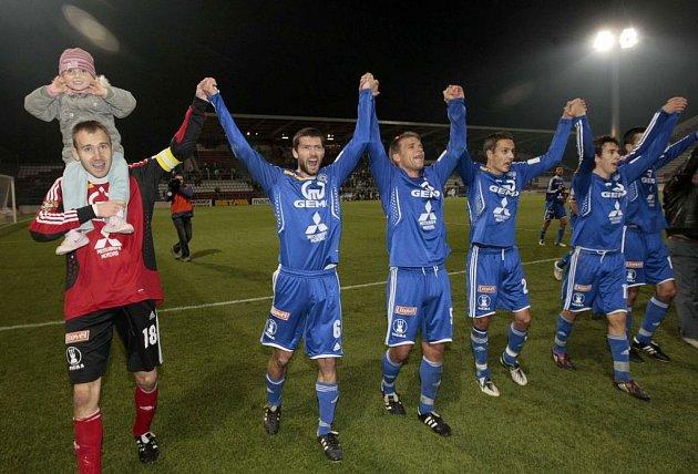 Hráči Sigmy se radují z vítězství