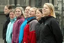 Házenkářky Zory na procházce Bělehradem