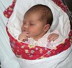 Eliška Šubová, Uničov, narozena 21. listopadu ve Šternberku, míra 51 cm, váha 3760 g