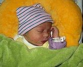 Sabina Burešová, Luká, narozena 22. října ve Šternberku, míra 45 cm, váha 2490 g