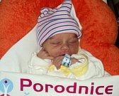 Matyáš Sychra, Droždín narozen 20. listopadu míra 47 cm, váha 2490 g