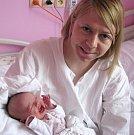 Tereza Štefková, Olomouc, narozena 28. dubna v Olomouci, míra 50 cm, váha 2093 g