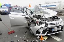 Nehoda na D46 ve směru naOlomouc 12.12.2019