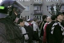 Fanoušci Slavie v Olomouci