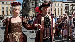 Svátky města Olomouce. V roce 2017 přijela i Marie Terezie. Ilustrační foto.