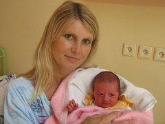 Anežka Nováčková, Litovel, narozena 14. července v Olomouci, míra 48 cm, váha 2520 g