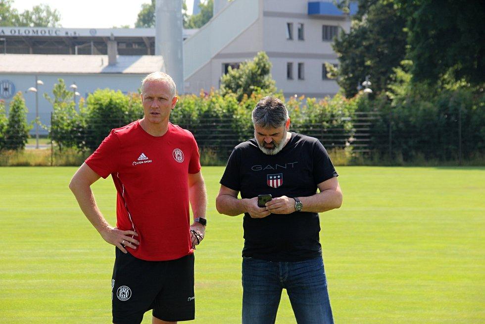 Fotbalová Sigma Olomouc zahájila přípravu na novou sezonu.Václav Jílek, Ladislav Minář