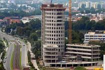 Stavba areálu Inovačního centra a kampusu Moravské vysoké školy u třídy Kosmonautů v Olomouci