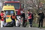 Vážná nehoda motorkáře u Nákla