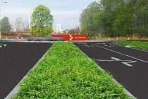 Vizualizace nového rondelu na Lipenské - schválená varianta. Zdroj: MmOl