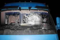 Vandalové házeli dřevěné špalky na projíždějící auta, desítky jich poničili