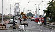 Nová tramvajová trať mezi Šantovkou a Velkomoravskou ulicí