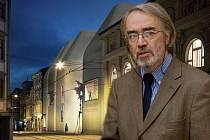 Bývalý ředitel Muzea umění Olomouc Pavel Zatloukal v koláži s vizualizací SEFO