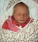 Marie Pitáková, Mladějovice, narozena 27. listopadu ve Šternberku, míra 49 cm, váha 3130 g