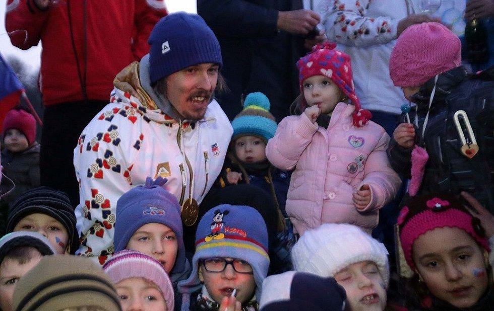 Přivítání olympionika Ondřeje Banka v Rudě nad Moravou