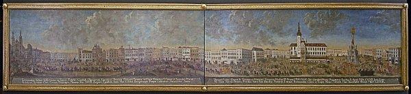 Šestimetrový obraz zachycující vjezd kardinála Troyera do Olomouce