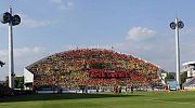 Fanoušci Opavy na Andrově stadionu v Olomouci