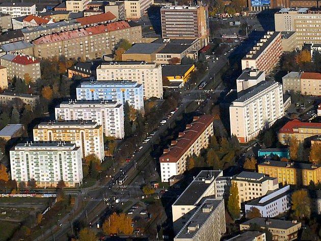 Třída Kosmonautů v Olomouci. Ilustrační foto