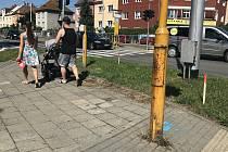 Olomouc začíná budovat systém chytrého řízení provozu na frekventovaných křižovatkách. Na snímku přípravy na křižovatce  Pražská a třída Míru, 21. srpna 2020
