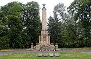 Památník osvobození Olomouce Rudou armádou u vstupu do Čechových sadů v Olomouci