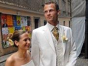 Svatba Davida Rozehnala v Olomouci v květnu 2006