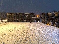 Podvečerní nehoda kamionu na D35 u Velkého Újezdu