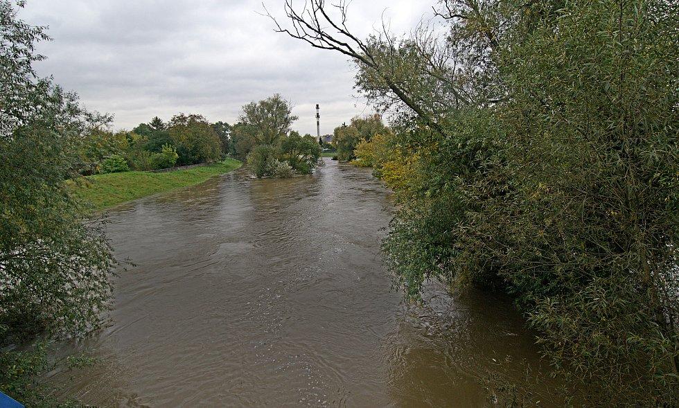 Černovír. Řeka Morava na 2. SPA v Olomouci. 16. října 2020