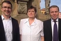 Kandidáti TOP 09 do Zastupitelstva města Olomouce:  Aleš Jakubec, Anna Taclová, Petr Navrátil
