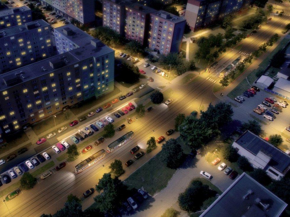 Vizualizace: Zikova ulice